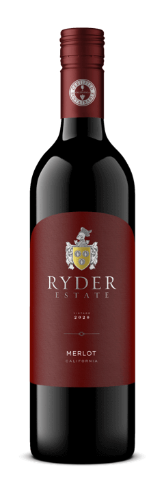 Ryder Estate Merlot wine bottle
